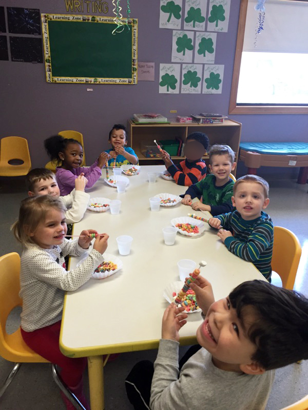 Pre-Schoolers at March Cooking Class