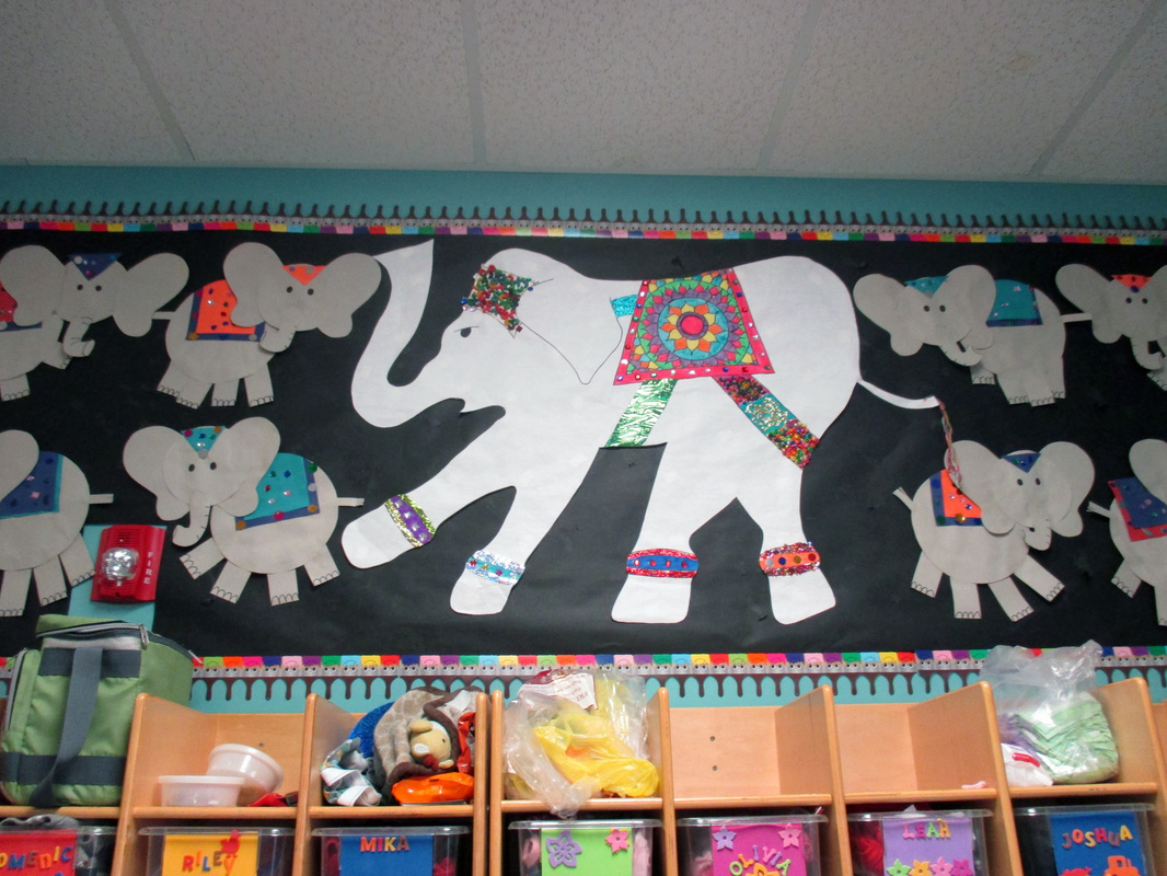 Juniors' Indian Elephant artwork